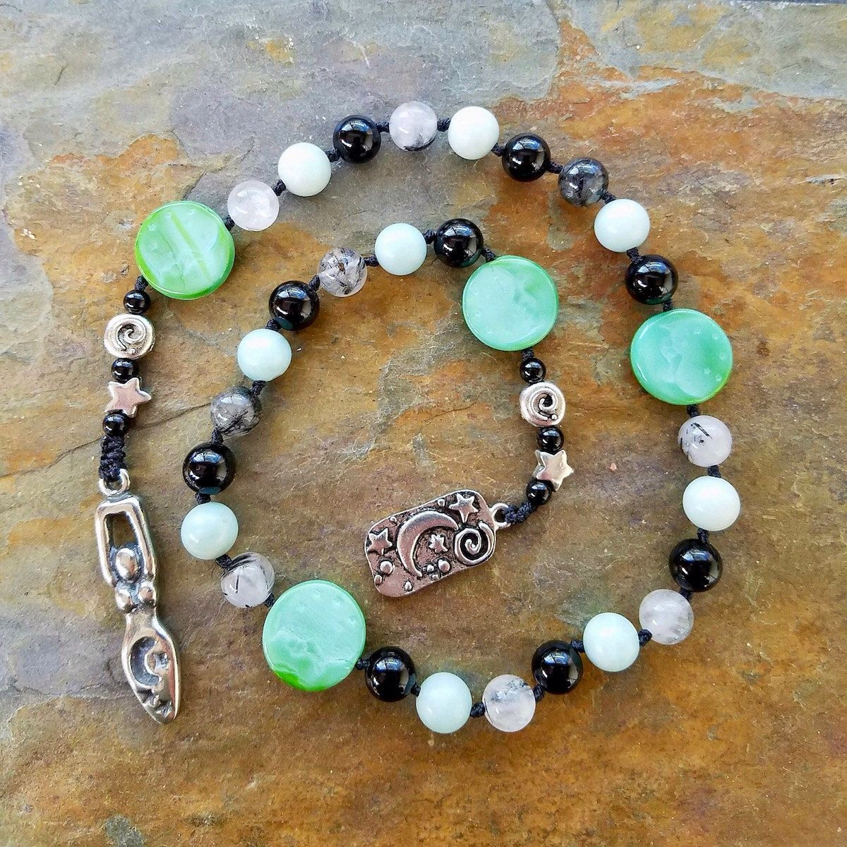 Magick of the Moon, Pagan Prayer Beads, Witches Rosary