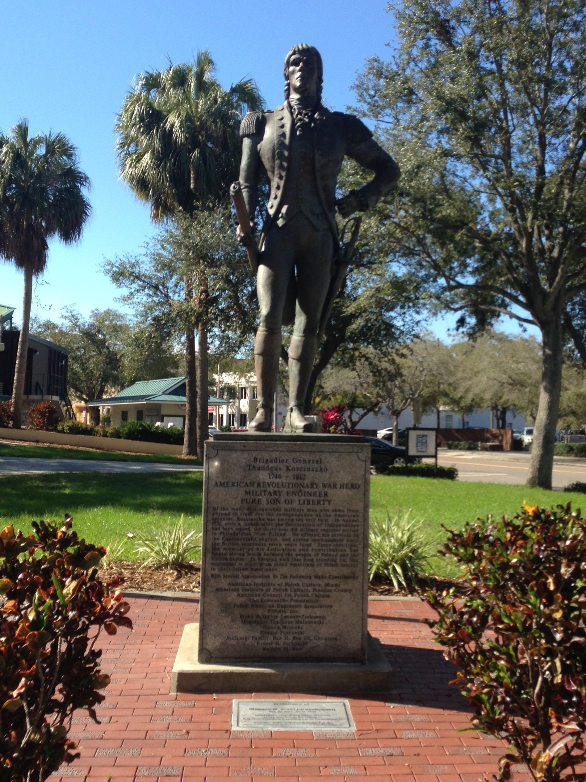 Thaddeus Kosciuszko Statue In Williams Park In Downtown St