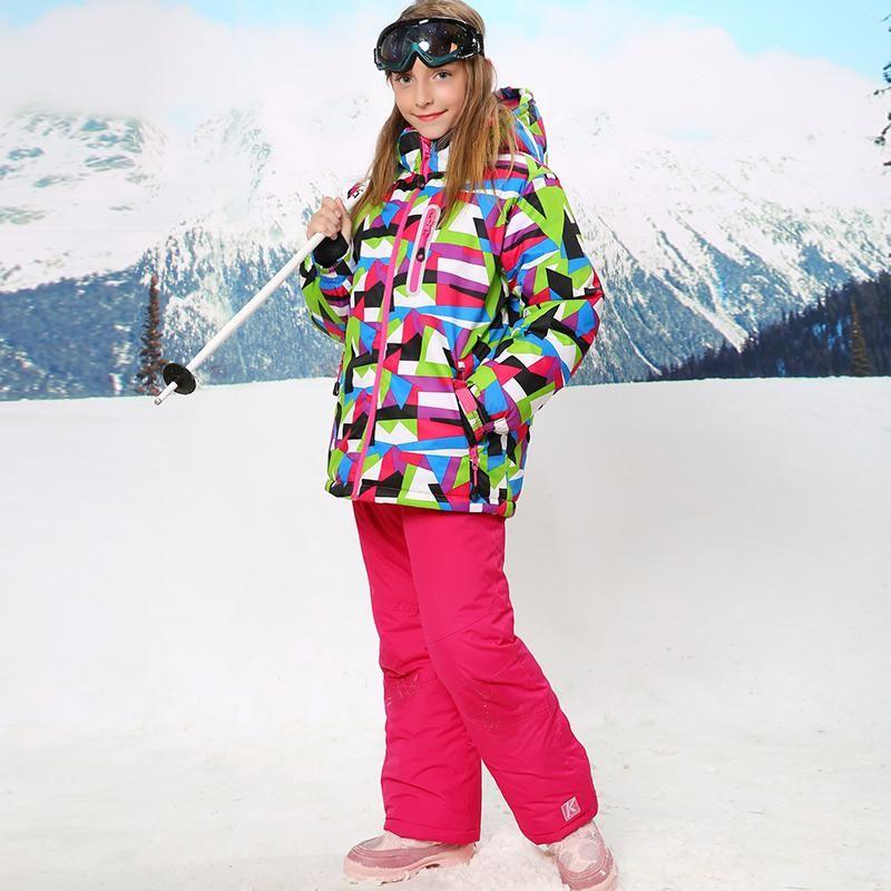 c724bfeb081e Waterproof Index 15000mm Warm Coat Ski Suit Windproof Baby Girls ...