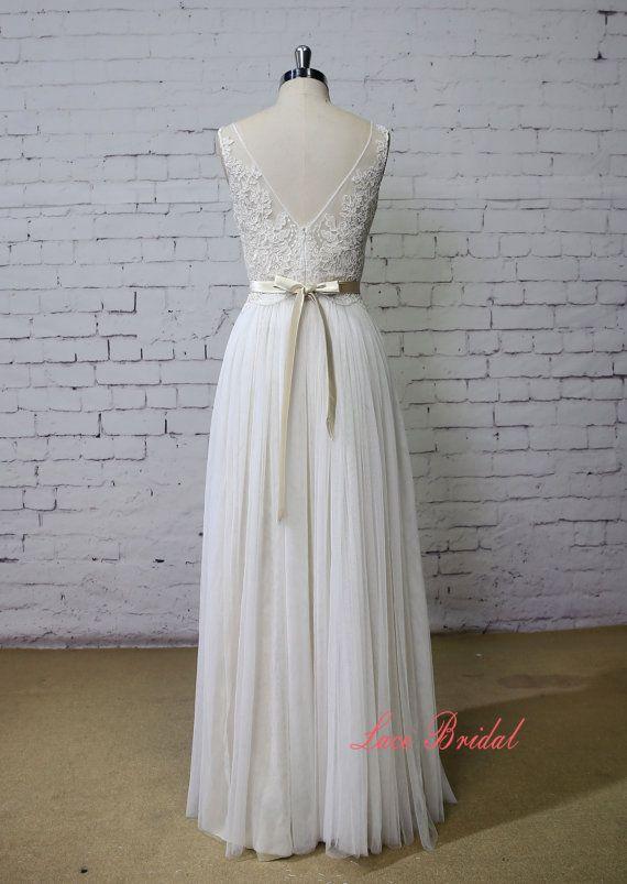 Wedding Dress Lace Wedding Dress Bateau Neck Wedding Dress