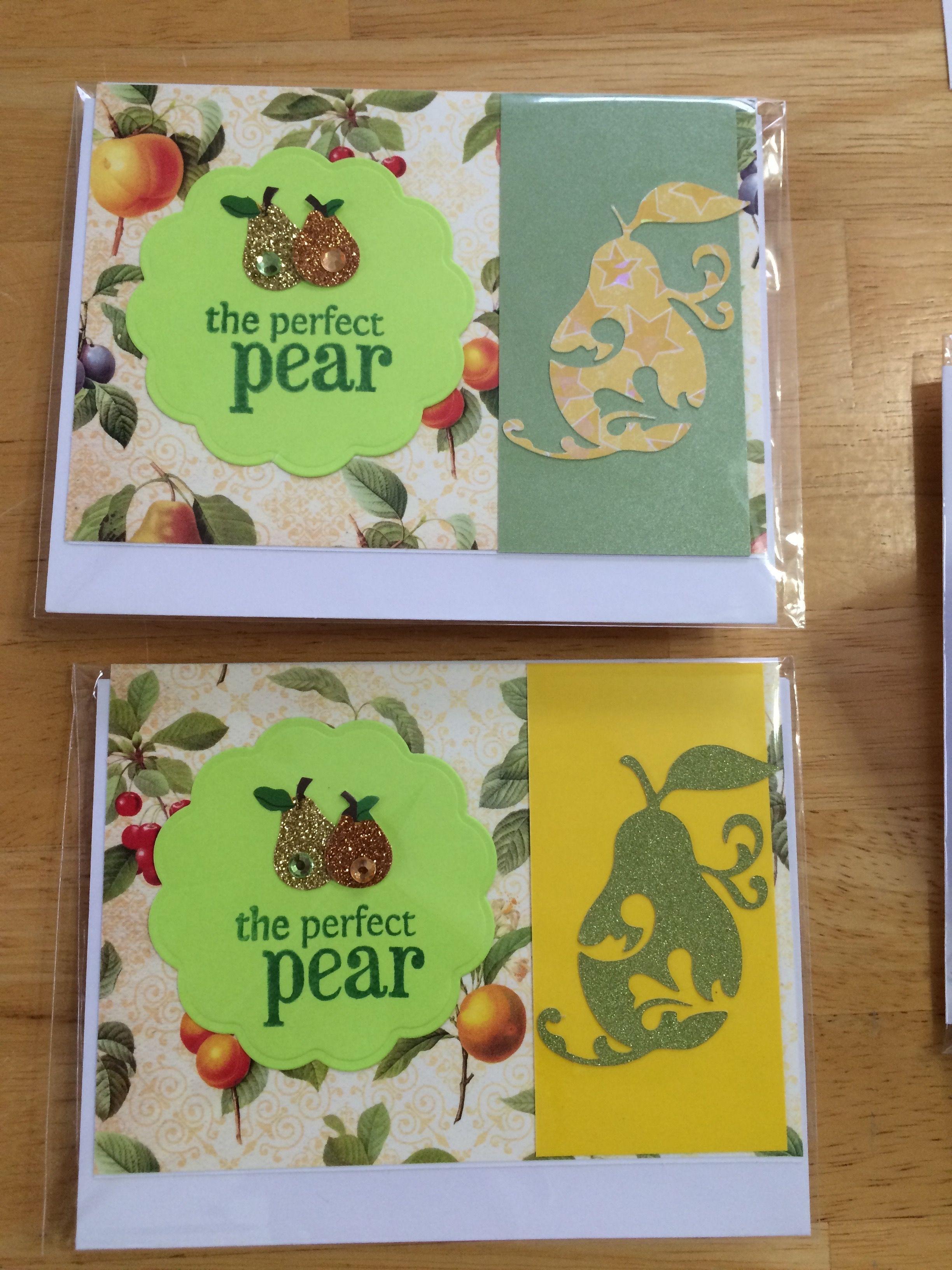 perfect pear handmade card
