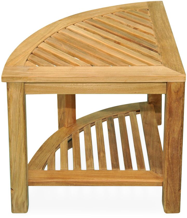 Regal Teak Corner Shower Stool Table This would look amazing in our ...
