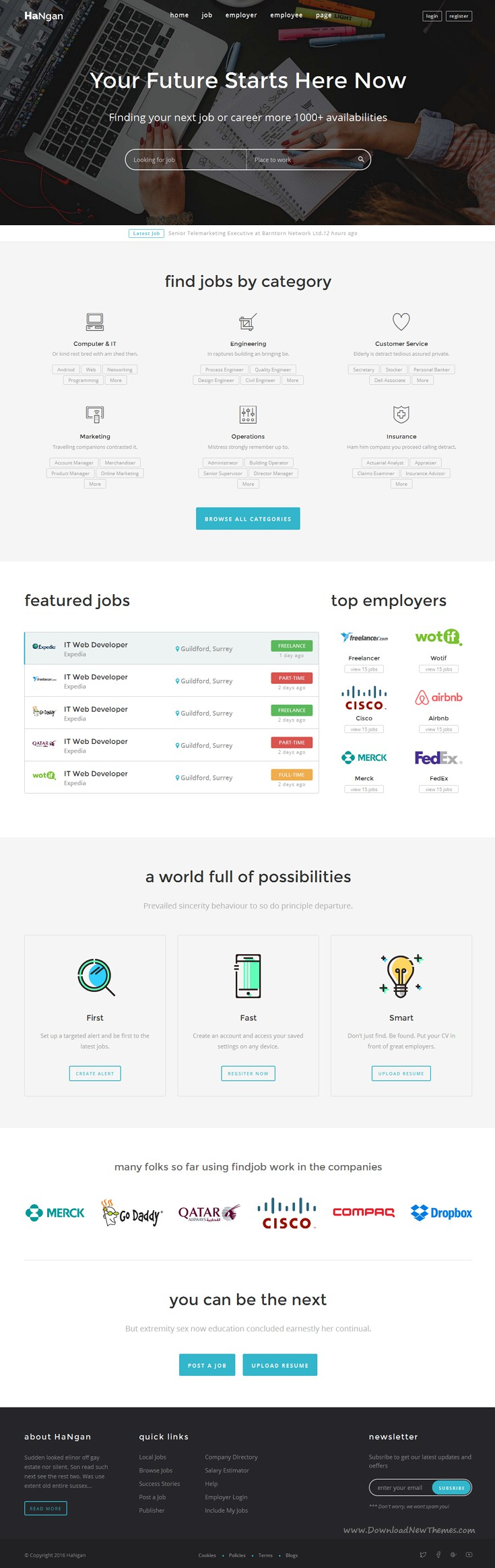 HaNgan is wonderful responsive Bootstrap HTML template for