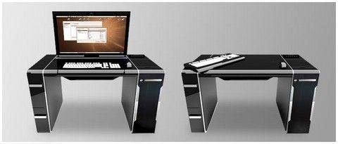 Art Deco Design Sync Computer Desk