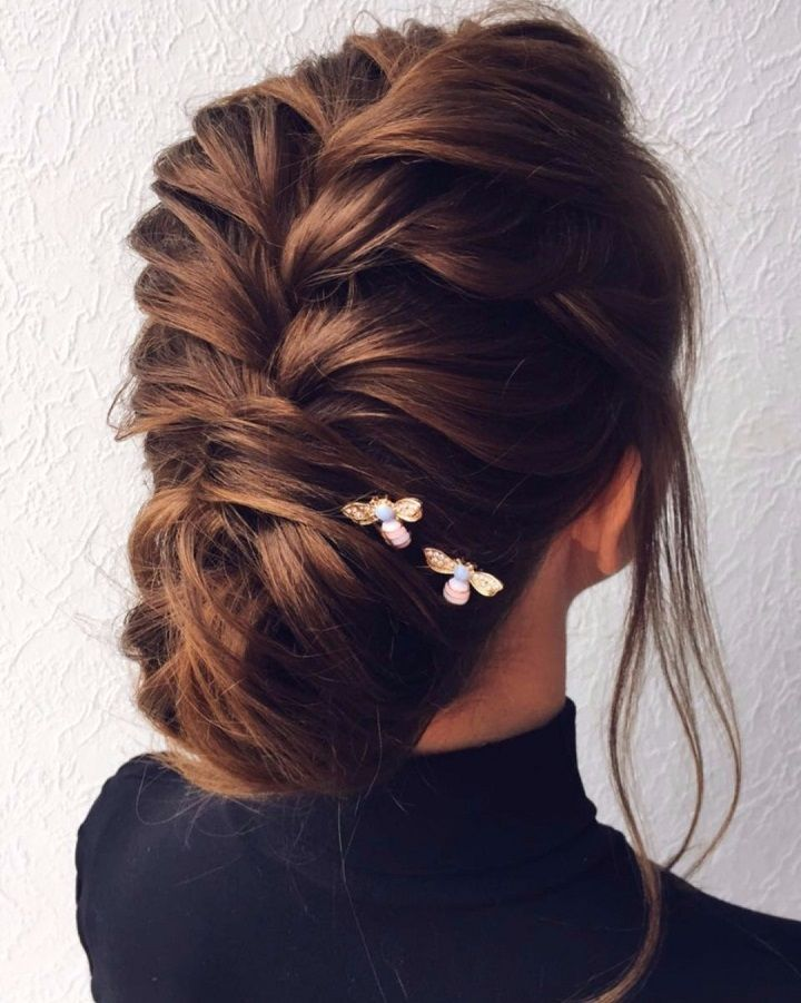 Beautiful and elegant braid + updo hairstyle inspiraiton #weddinghair #weddingupdo #hairstyle #hairideas #updo #upstyle #messyupdo #hairinspiration