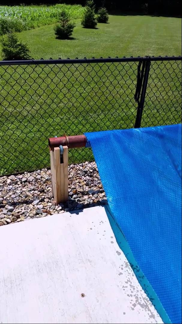 Homemade solar cover reel Pool cover roller, Solar pool