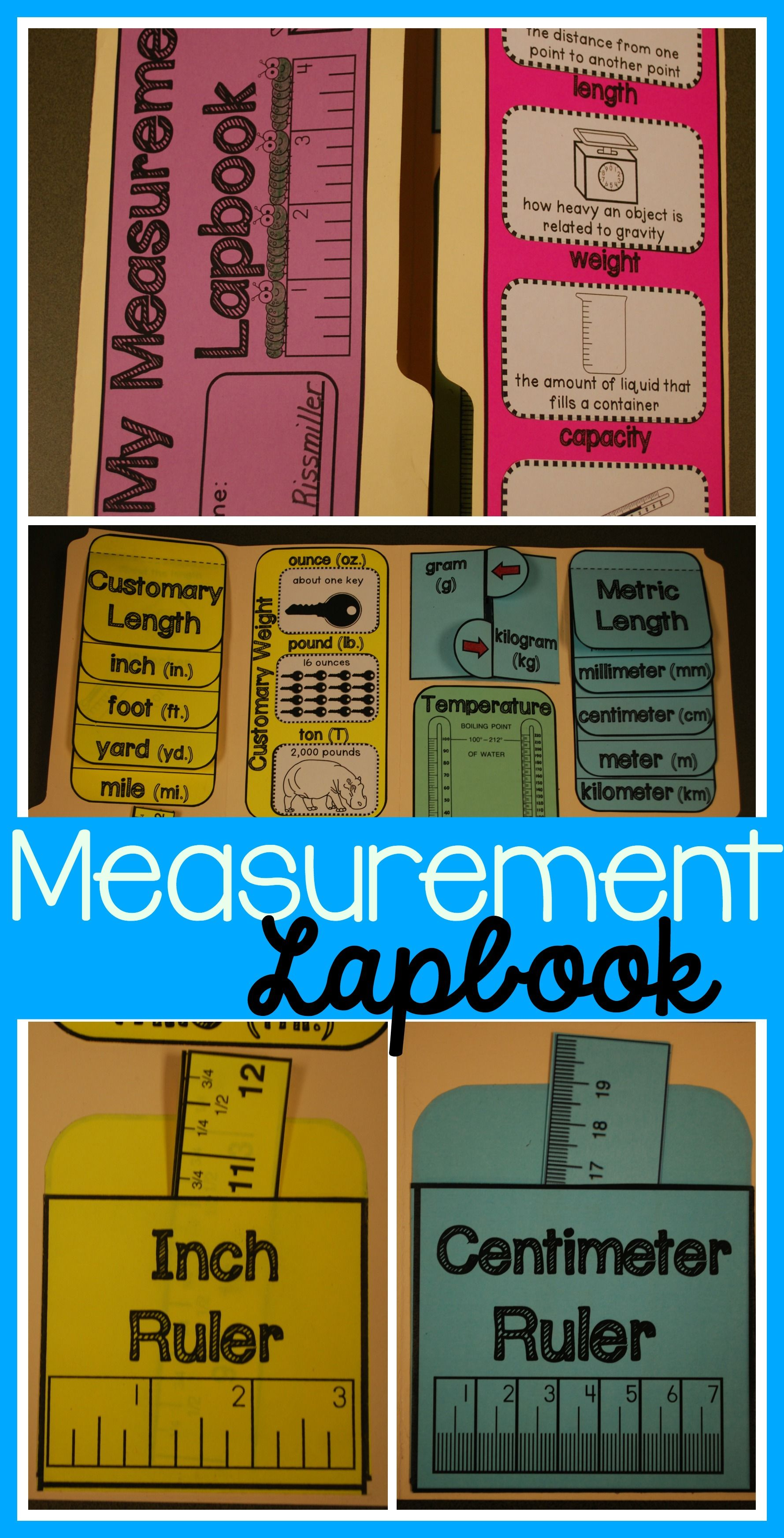 Measurement Lapbook Interactive Kit Customary Amp Metric