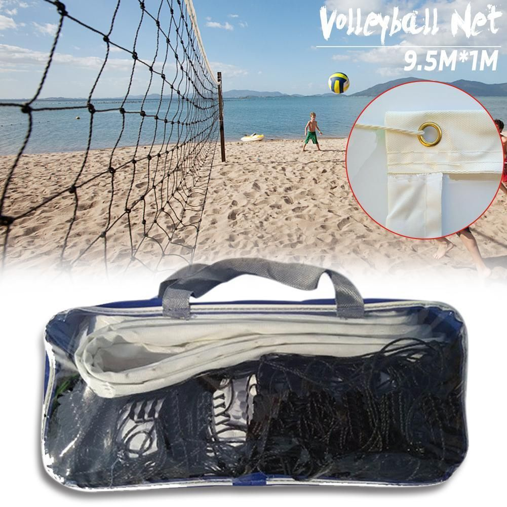 Quality 9 5mx1m Volleyball Net Polyethylene Non Absorbent Material Anti Aging Beach Volleyball Net Beach Volleyball Net Volleyball Net Beach Volleyball
