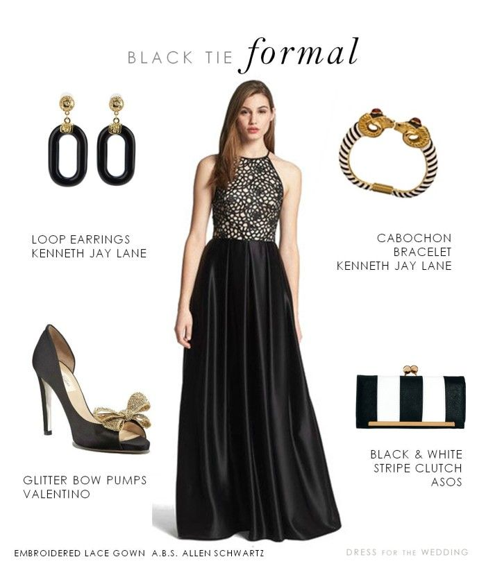 Black Tie Formal Gown