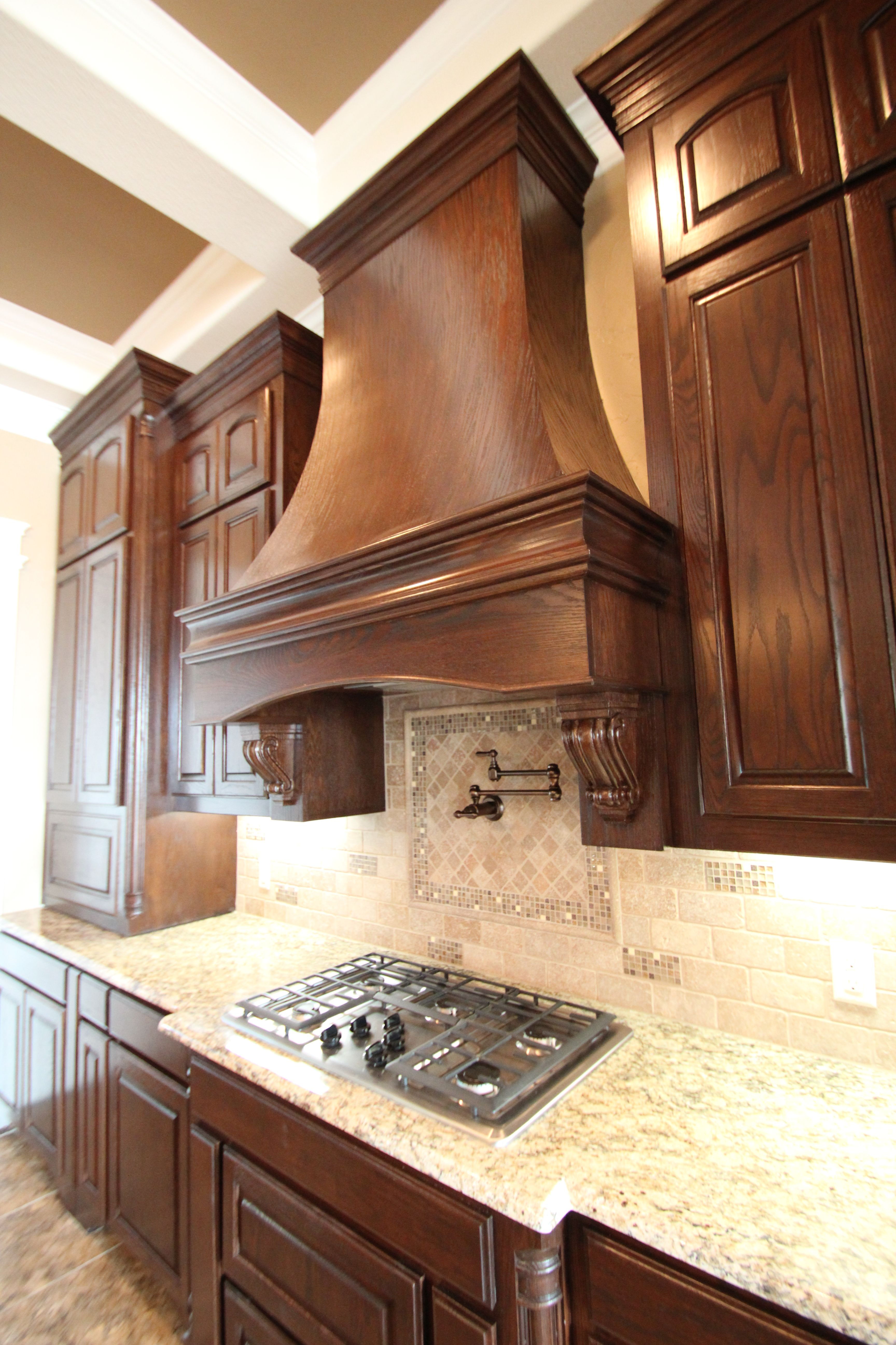 Couto Custom Home Stained Cabinet Finish Sherwin Williams Latte On Walls Sherwin Williams Hopsack In Ceili Kitchen Cabinets Staining Cabinets Cabinet Finishes