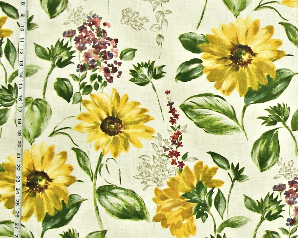 Sunflower Fabric Summer Floral Watercolor Barn Wedding
