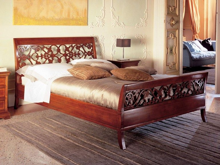 Classic style cherry wood bed CICLAMINO by Le Fablier | beds ...