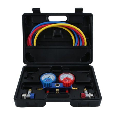 3 Way AC Diagnostic Manifold Gauge Set for Freon Charging