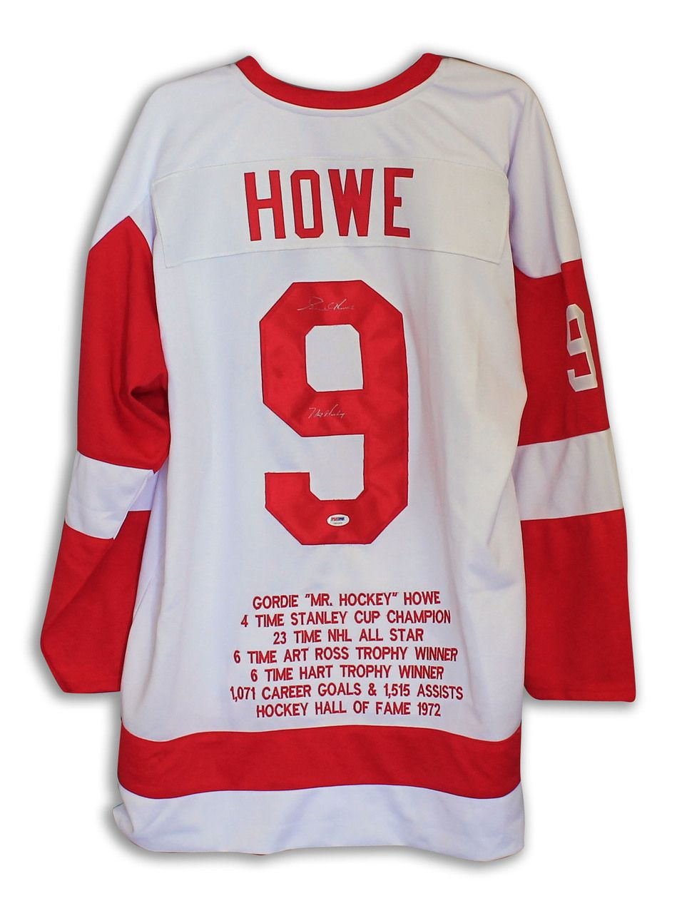 583f8840743 AAA Sports Memorabilia LLC - Gordie Howe Detroit Red Wings Autographed White  Throwback Jersey with Embroidered