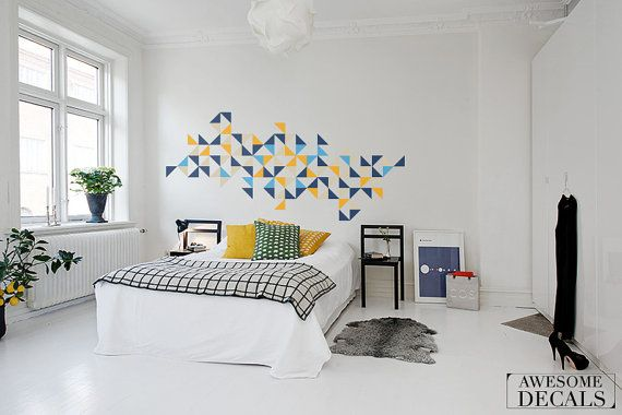 Geometric art  Ornament wall decal  Abstract wall by awesomeDecals, $44.90 - Can customize colors and composition!