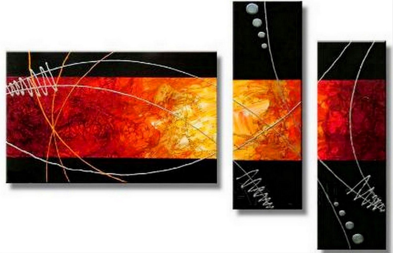 Cuadros tr pticos abstractos con textura im genes arte - Fotos cuadros abstractos ...