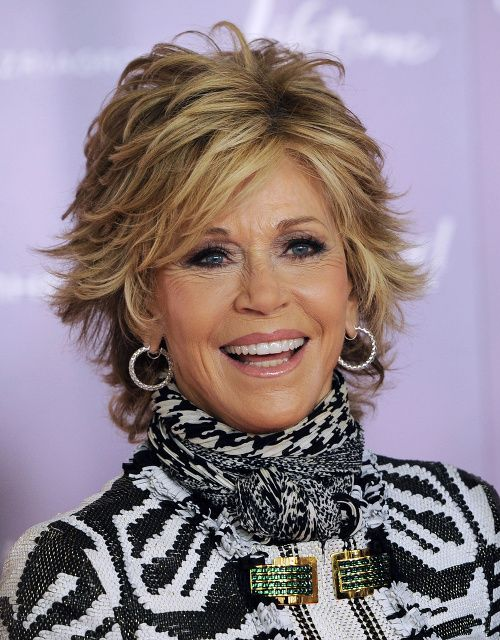 Another Good Hair Day For Jane Fonda Hair In 2019 Hair Styles