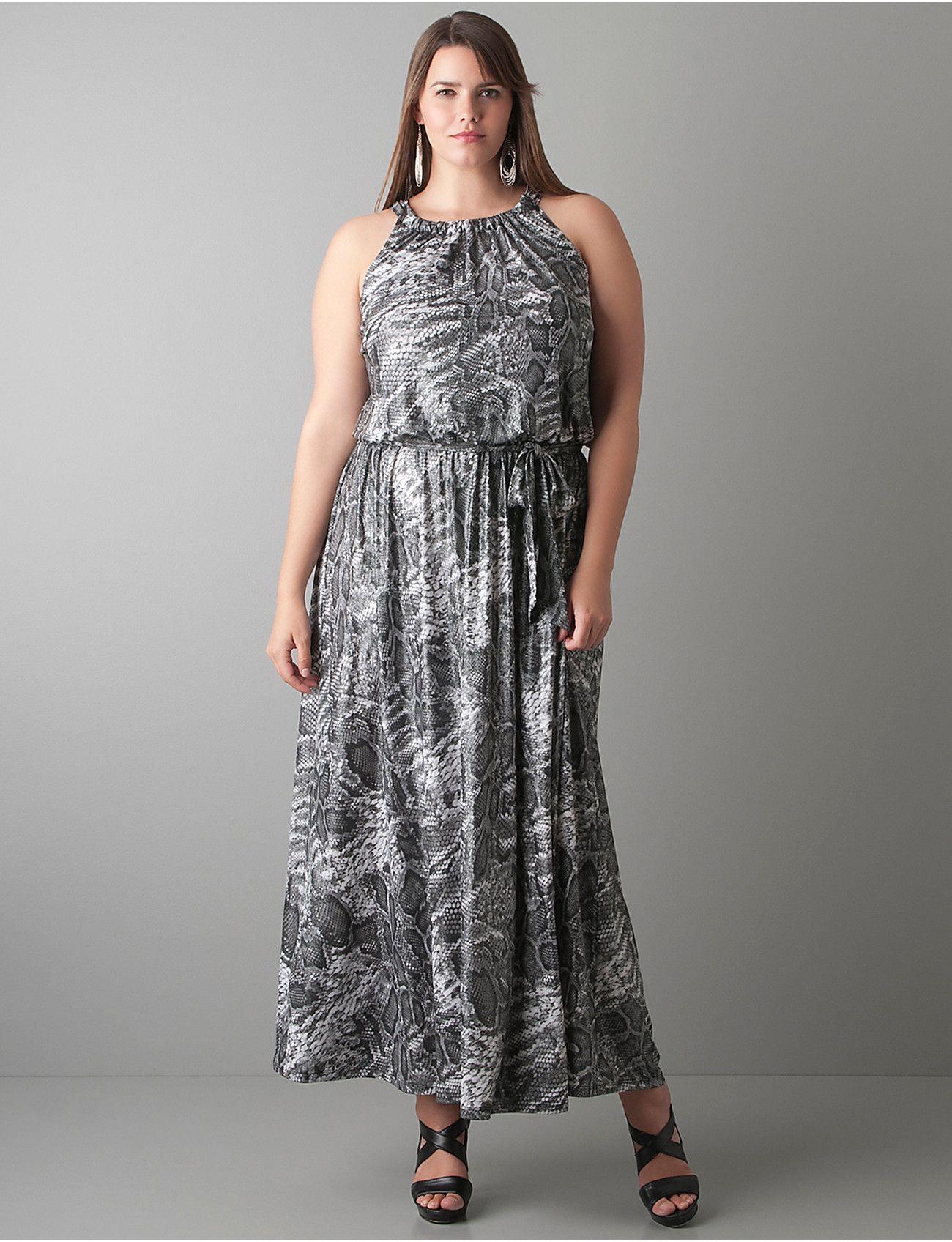 7848971334818 Plus Size Snakeskin Print Maxi Dress | Lane Bryant | Lane Bryant ...