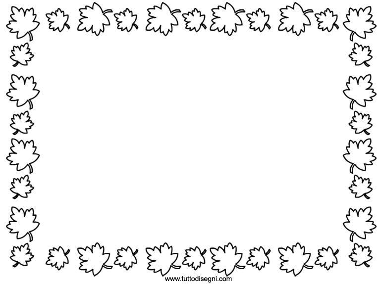 Cornicetta Con Foglie Da Colorare Tutto Disegni Bordi Per Copertine