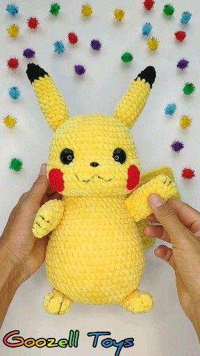 Photo of Pokemon Pikachu Häkelanleitung, Amigurumi Detective Pikachu Muster, Häkelspielzeug, Strick Pikachu