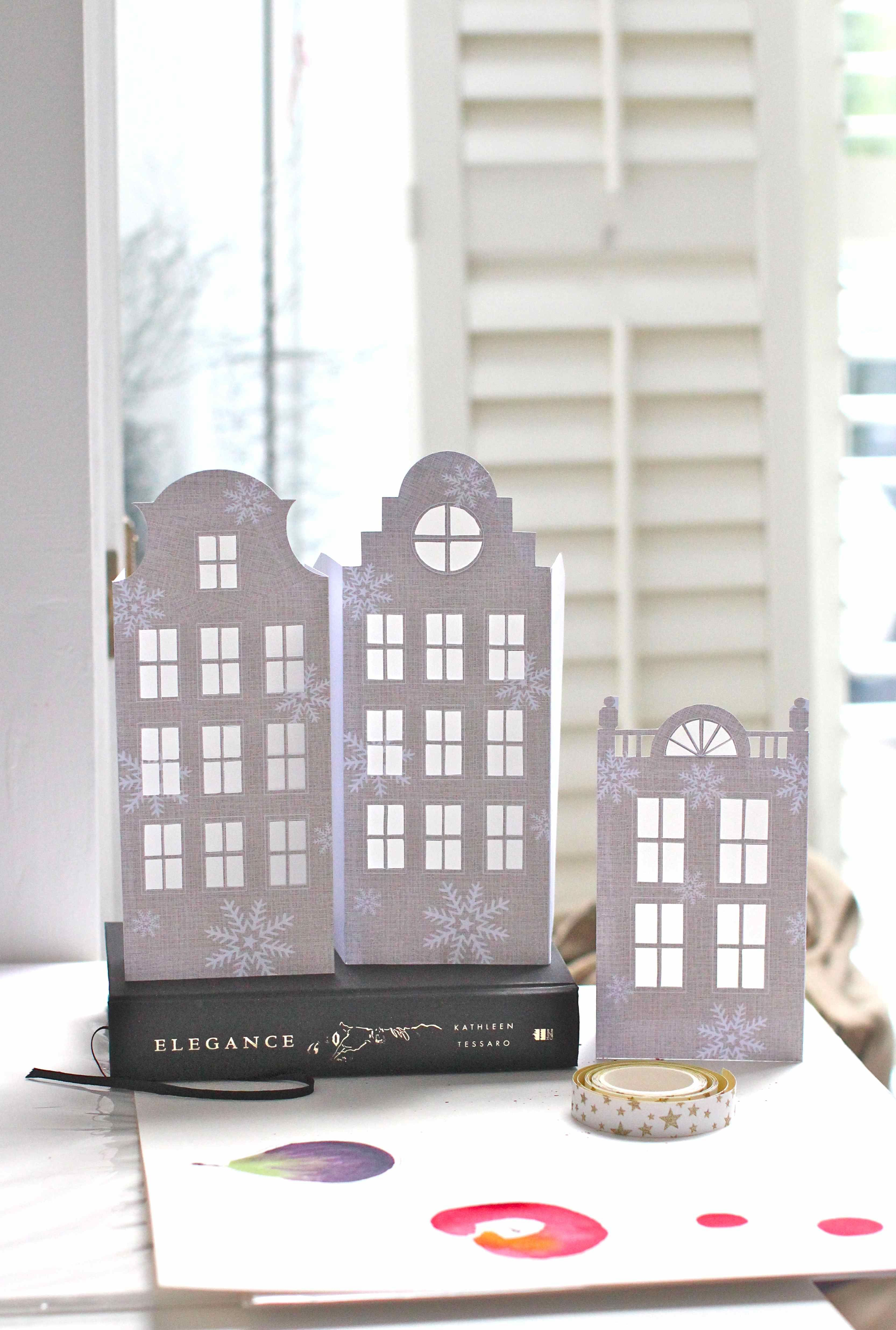 DIY Dutch house luminaries - instructions here. (Templates in their ...