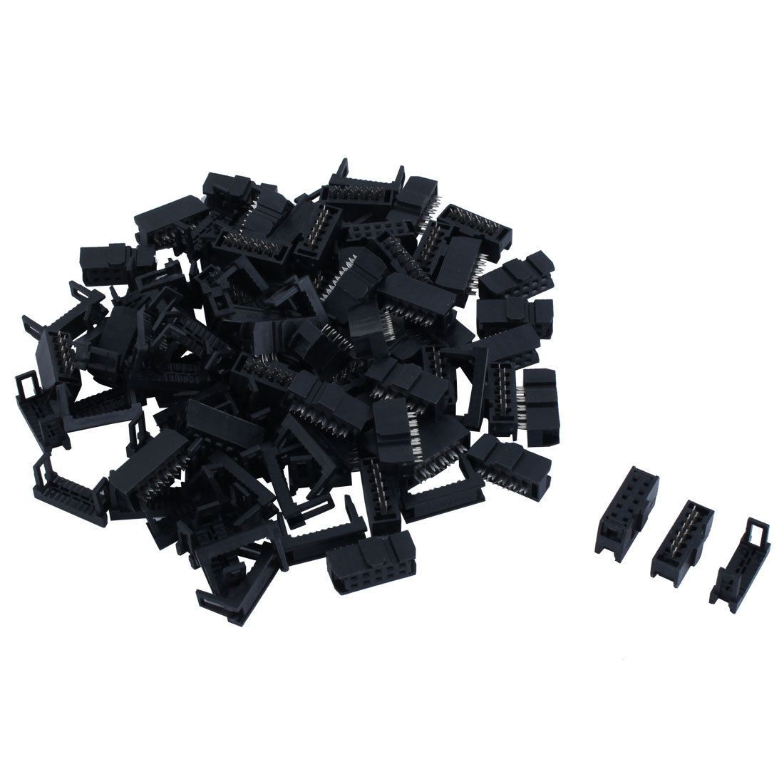 9 56 50 Pcs 2 54mm Pitch 10 Pin Idc Header W Strain Relief For Flat Ribbon Cable Ebay Electronics Ebay Cable Pitch