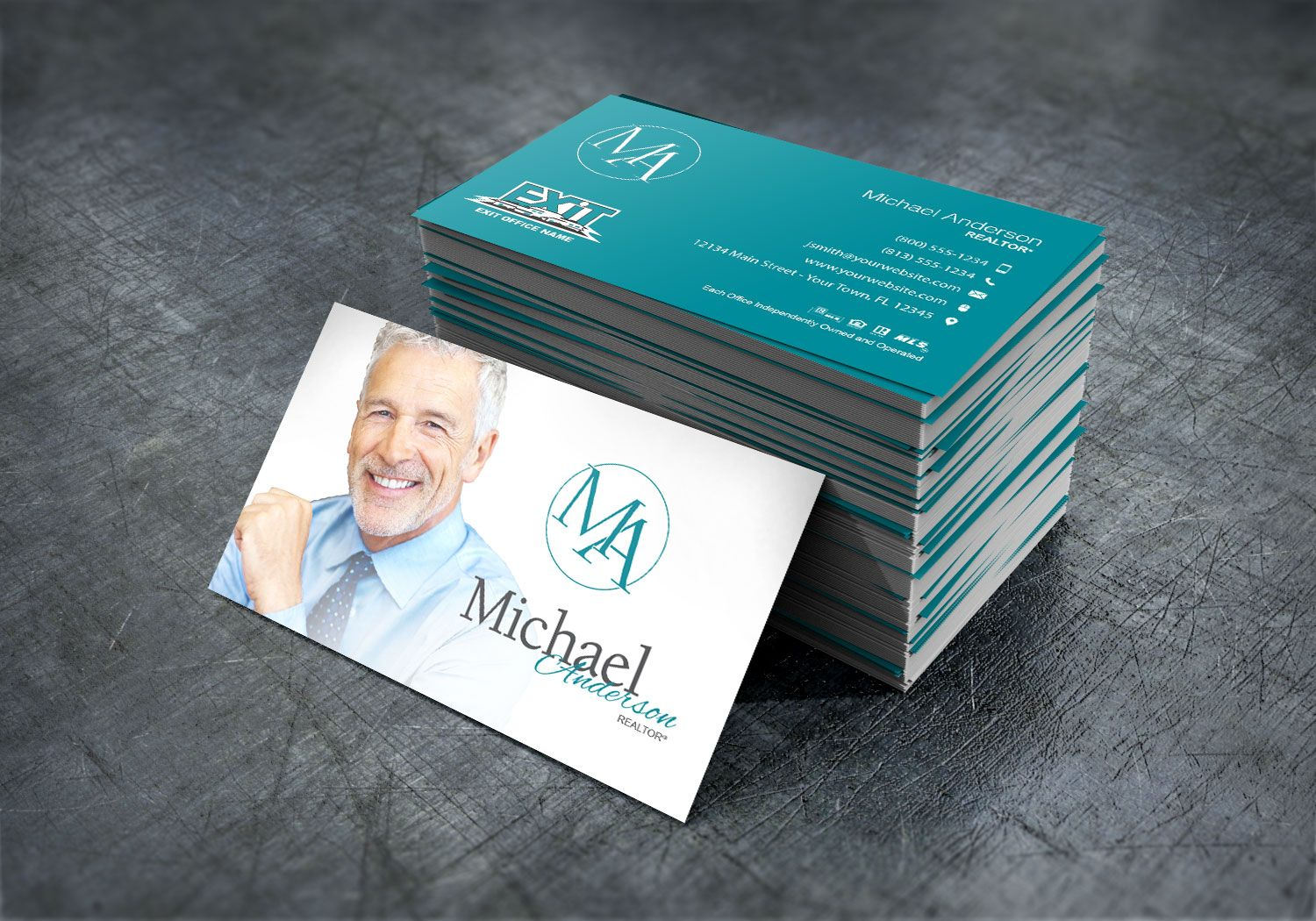 Modern And Professional Exit Realty Business Card Design For Realtors Real Estate Agent Business Cards Realtor Business Cards Keller Williams Business Cards