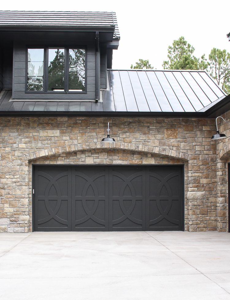 Our Modern Chateau With Farmhouse Flair The House Of Silver Lining Garage Door Design Garage Doors Garage Door Makeover