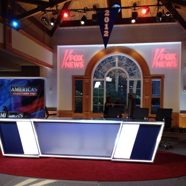 Fox News set at St. A's.
