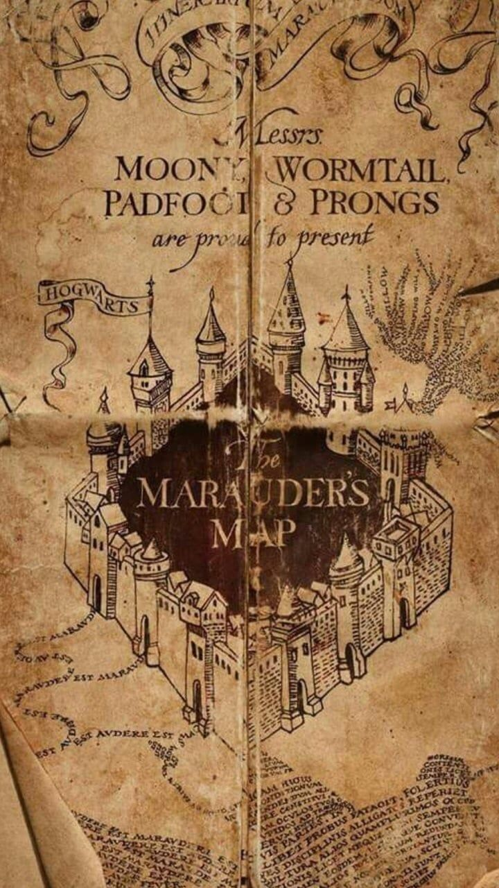 harry potter, marauders map, and hogwarts image   Harry Potter ...