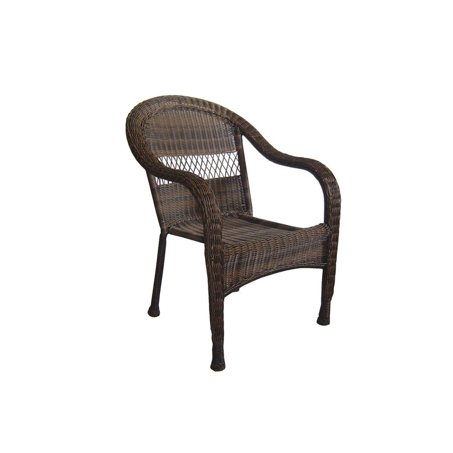 Shop Garden Treasures Severson Textured Black Steel Woven Seat Patio Chair  Without Cushion At Lowes.