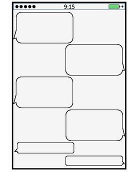 table top texting template teaching days pinterest teaching