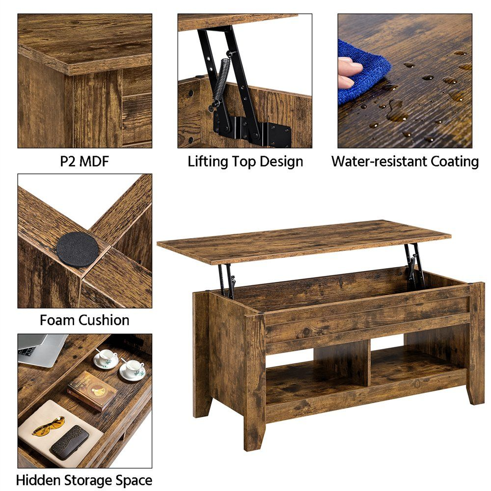 Smilemart Rustic Wooden Lift Top Coffee Table With Storage For Living Room Rustic Brown Walmart Com Coffee Table Farmhouse Extendable Coffee Table Pallet Home Decor [ 1000 x 1000 Pixel ]