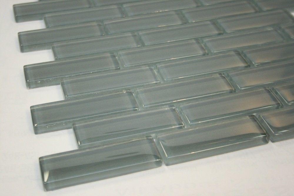 Eclipe 1 X3 Grey Glass Tile Price Per Piece 1 Piece 875 Square Feet Glass Mosaic Tiles Grey Glass Tiles