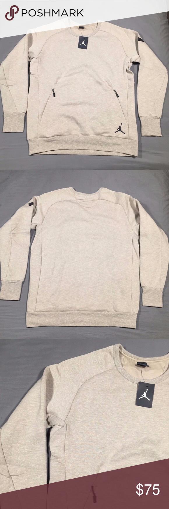 39d53ef690375f Air Jordan Icon Fleece Crew Sweatshirt 802181 235 New Men s Nike Air Jordan  Icon Fleece Crew