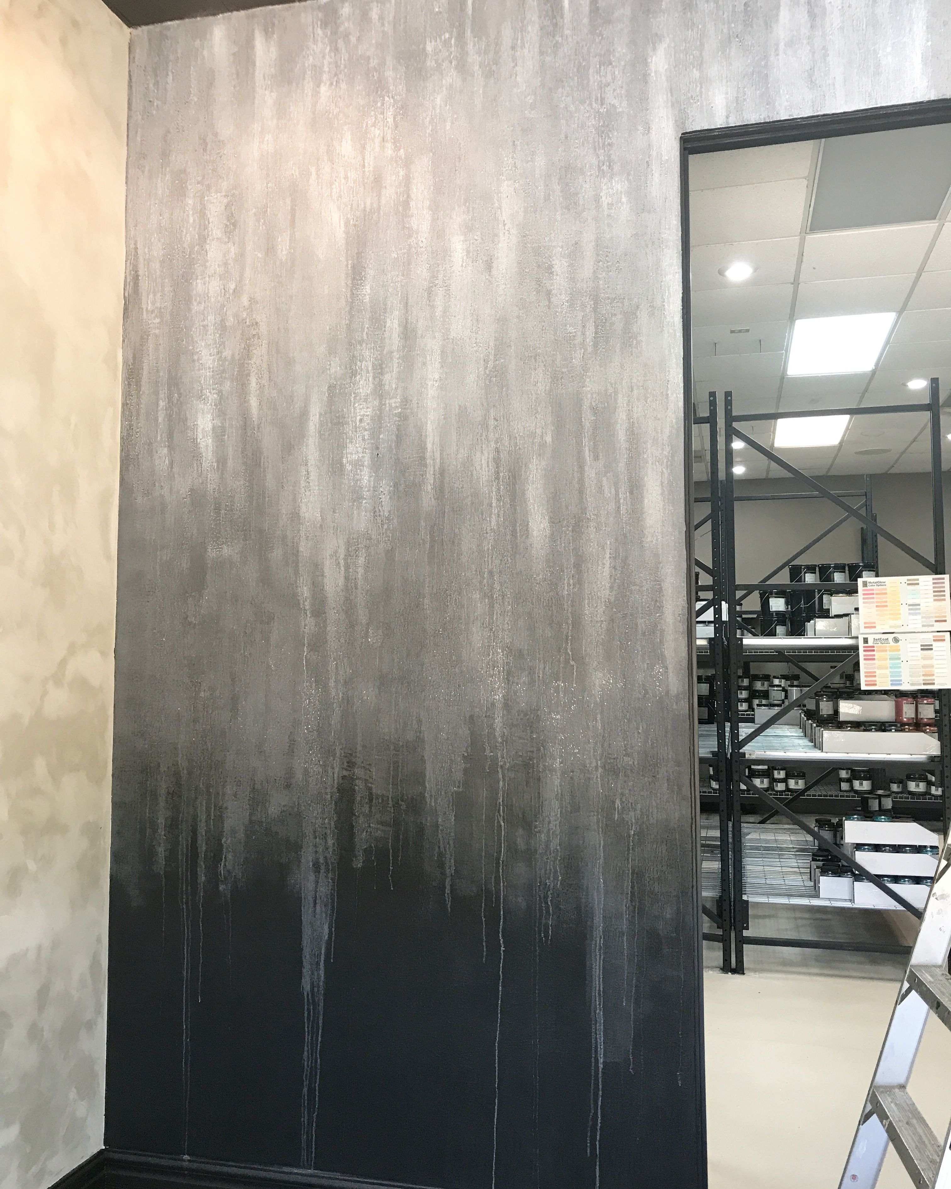 Grey Ombre Wall In Shimmery Galaxy Stone Room Paint Ombre Wall