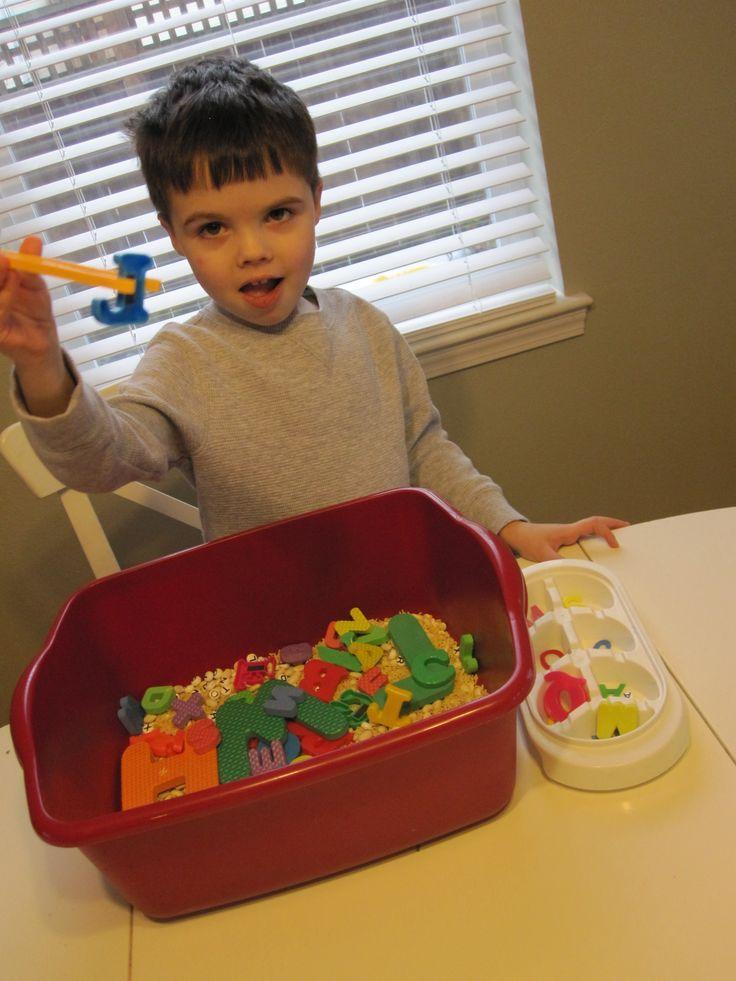 Alphabet Sensory Tub | Kindergarten Literacy: Letters & Sounds ...