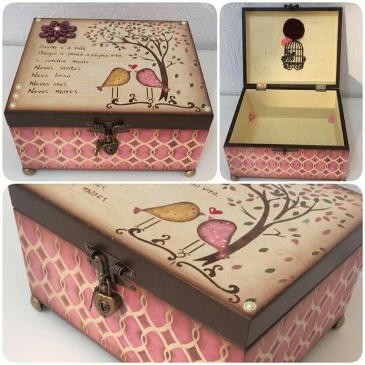 Cajas decoradad cajas decoradas pinterest cajas - Cajas de madera decorativas ...