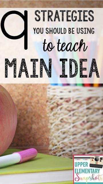tiered lesson main idea