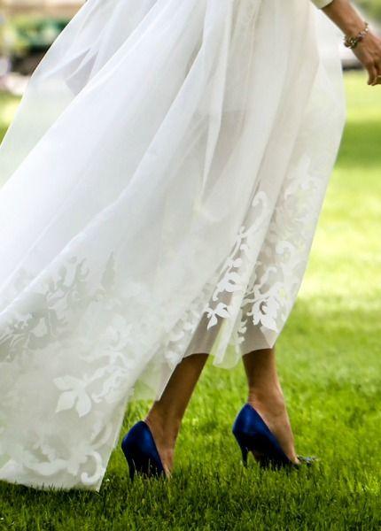 los zapatos de boda de olivia palermo | con dos tacones | olivia