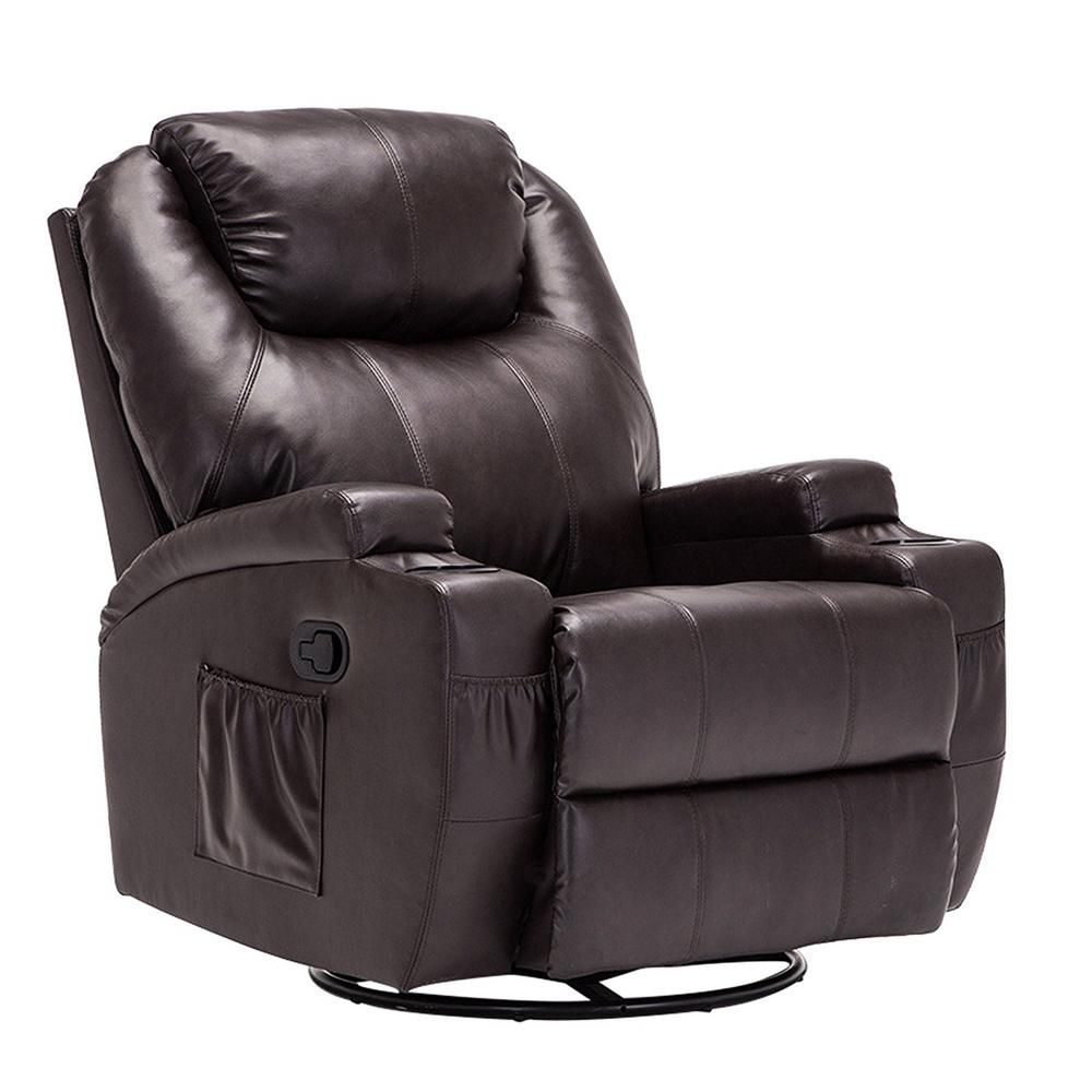 Boyel Living Massage Recliner Chair 360 Degree Swivel And Heated