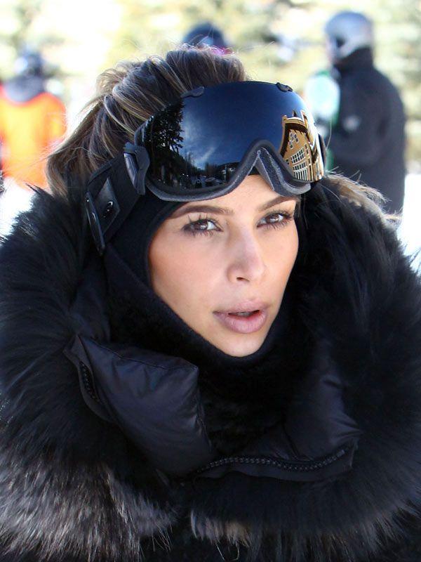 9fb9d0c65b6f8e Kim Kardashian On The Ski Slopes  Snow Bunny Beauty