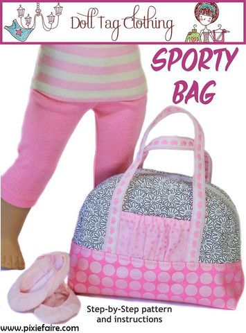 Sporty Bag 18 Doll Accessories                                                                                                 $3.99 #dollaccessories