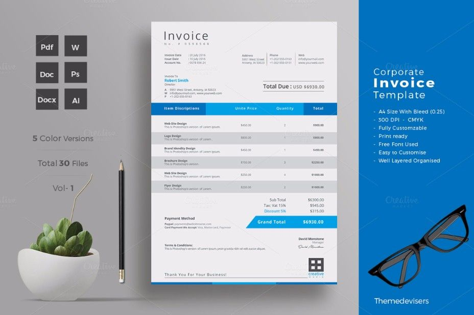 Freelance Invoice Templates for Word,Excel,Open Office,PDF Test - freelance invoice