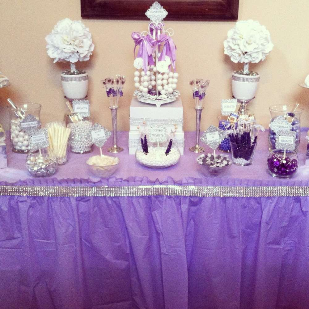 diamonds and pearls bridal/wedding shower party ideas