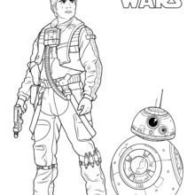 Poe Dameron And Bb 8 Coloring Page Coloring Pages Drawing For