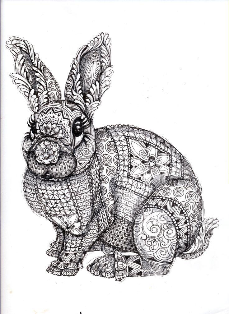 Ausmalbilder Tiere Mit Muster Zum Ausdrucken Ausmalbilder Tiere Zentangle Kunst Ausmalbilder