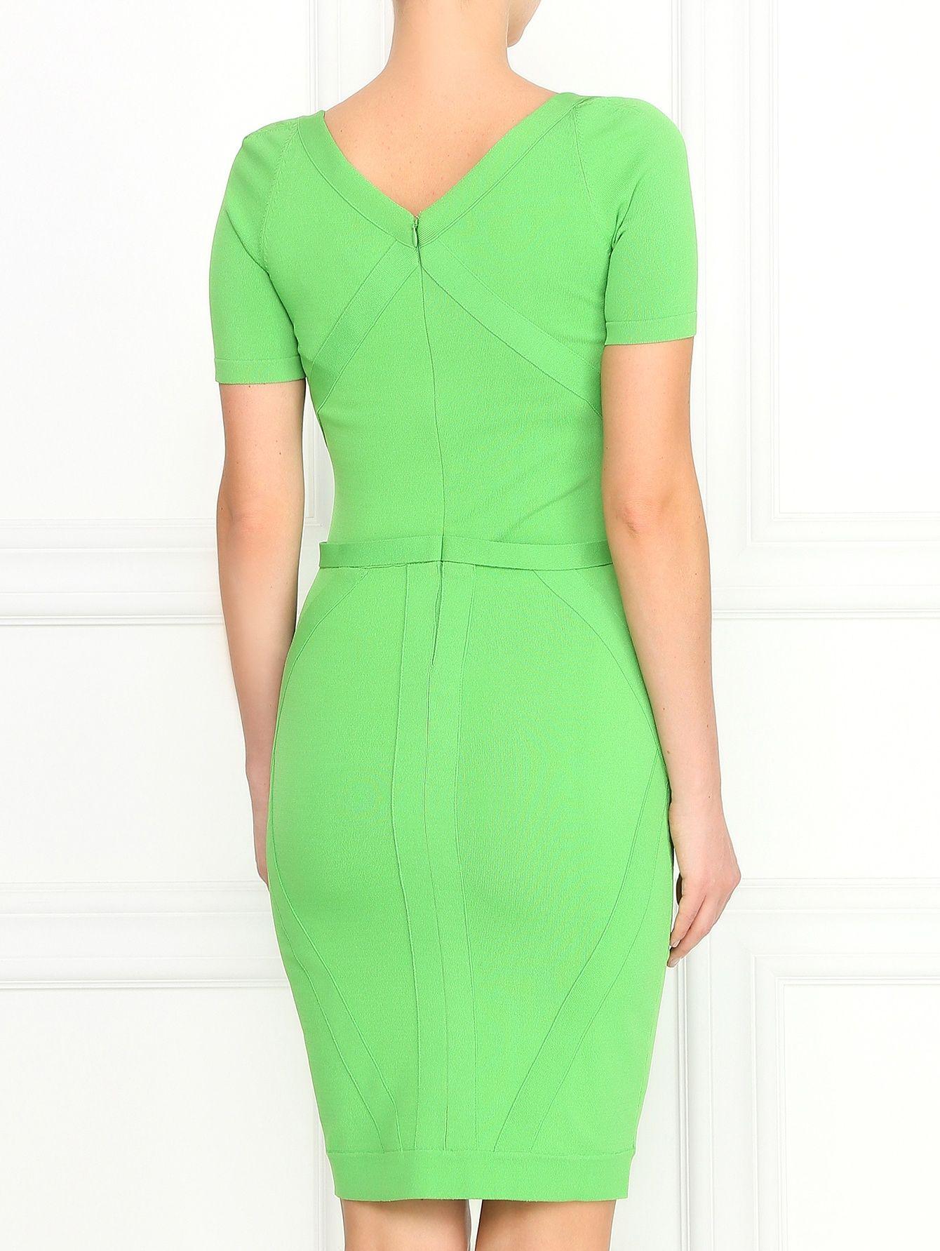 9c298000938 Купить со скидкой Versace Collection зеленое платье-футляр с рельефными  вставками (124531) – распродажа в Боско Аутлет