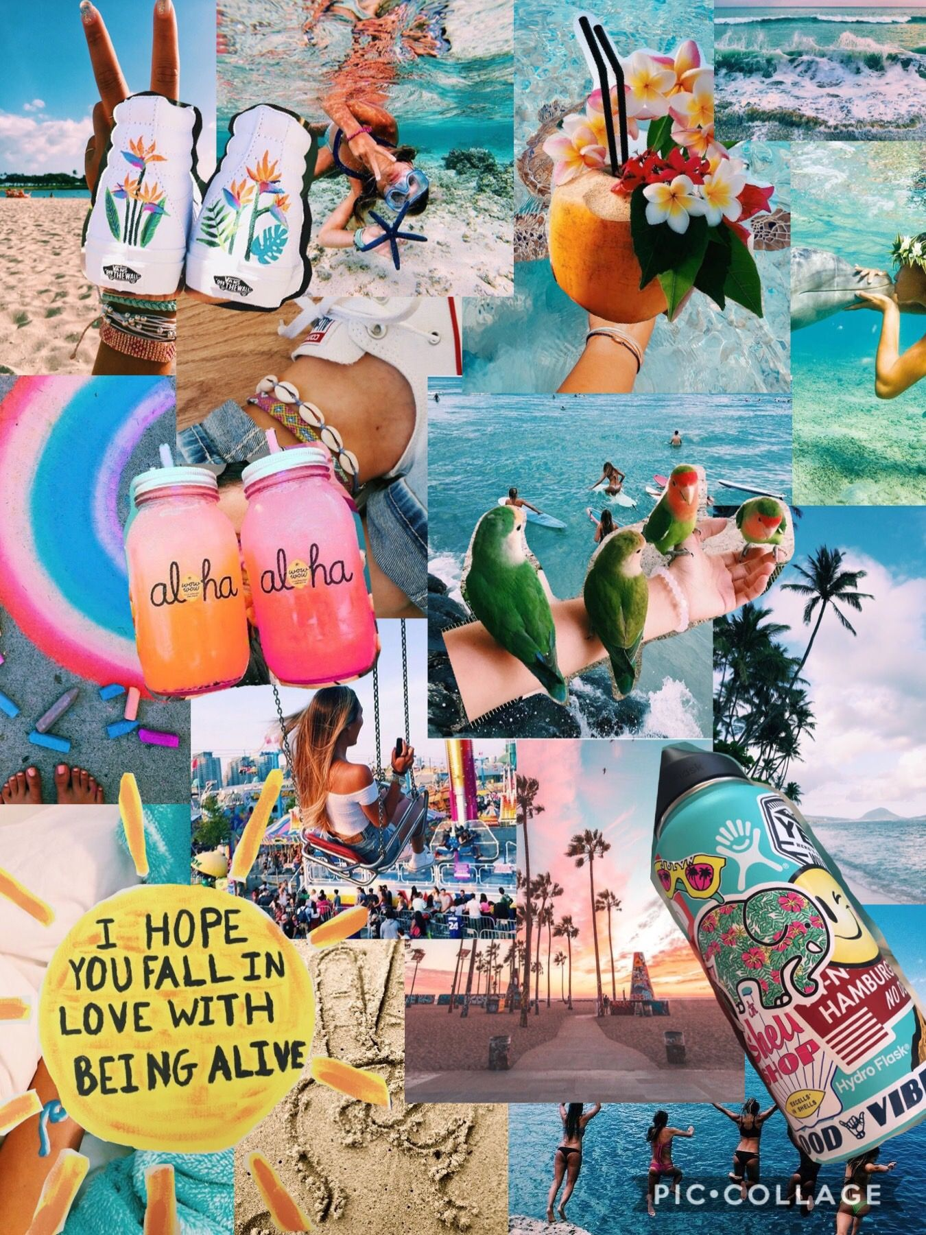 Pin Natalyelise7 Collage Background Aesthetic Wallpapers