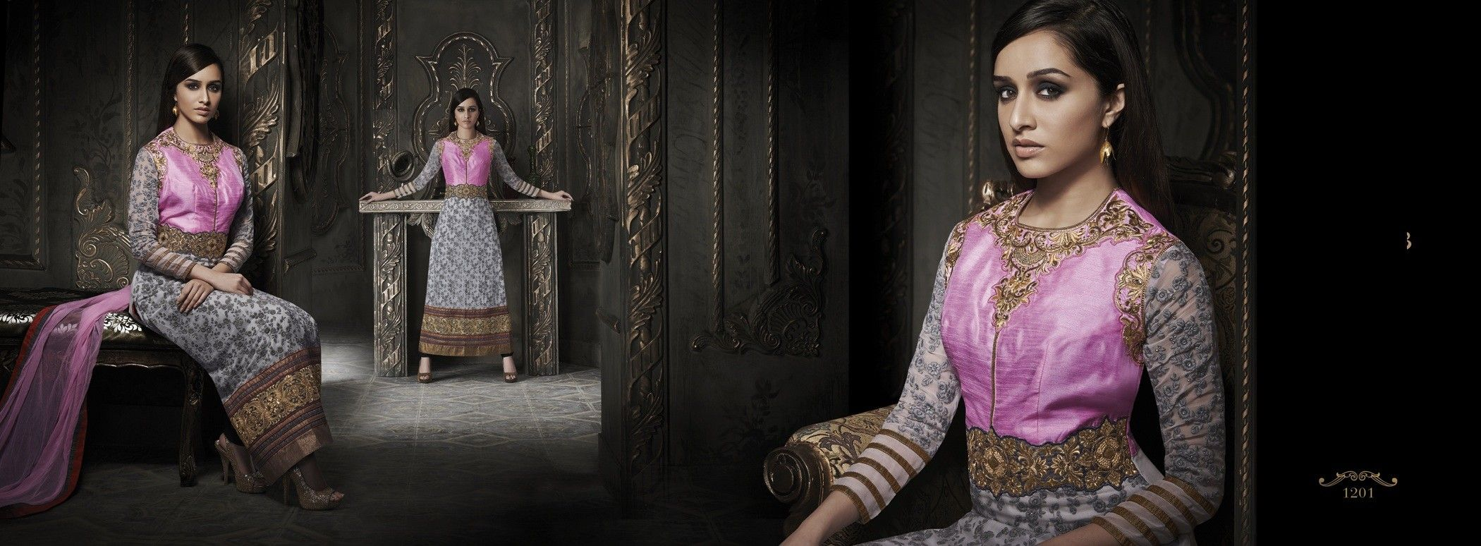 shraddha kapoor In White & Pink Suit, designer collection 2015, latest indian women fashion
